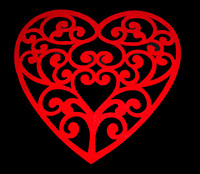 Ornate Red Heart