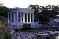 Plymouth Rock at Twilight